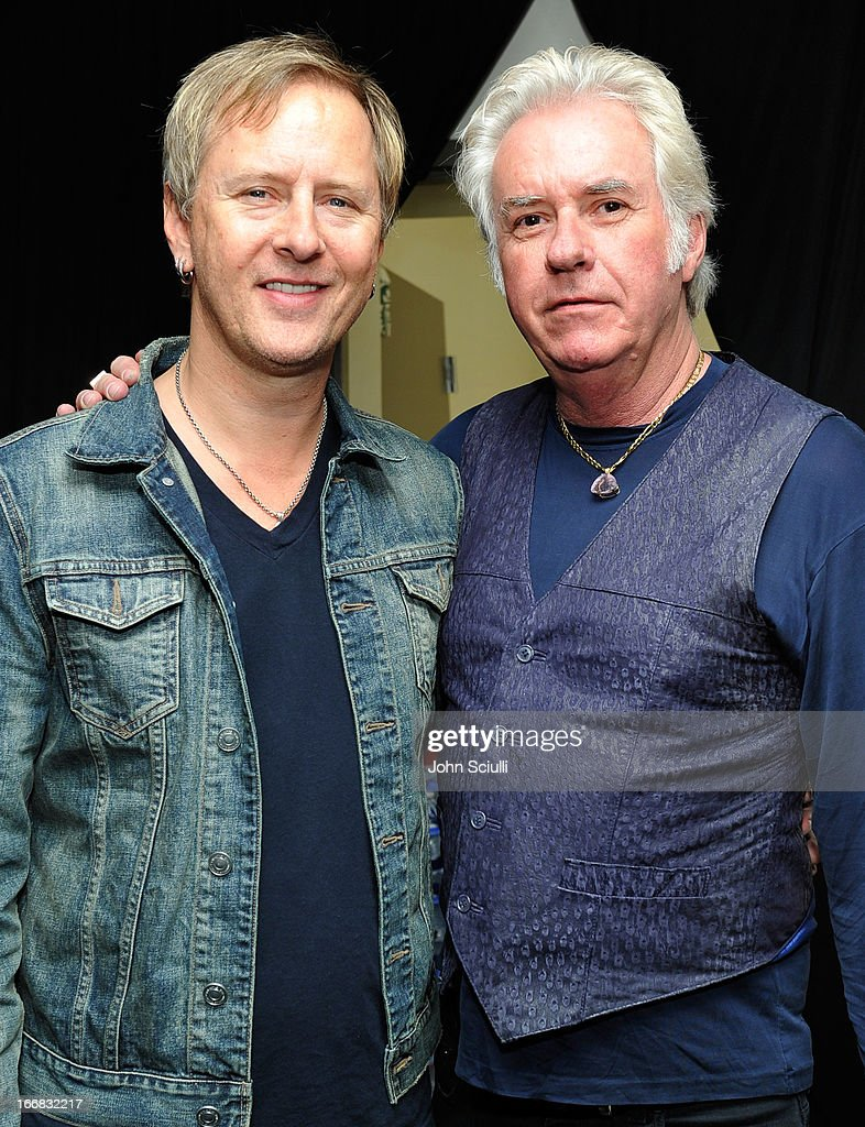 Musicians Jerry Cantrell (L) and Howard Leese attend the Gift Lounge at the 28th Rock and Roll Hall of Fame Induction Ceremony presented by I Can't Believe It's Not Butter! 'Breakfast After Dark' produced by On 3 Productions at Nokia Theatre L.A. Live on April 17, 2013 in Los Angeles, California.