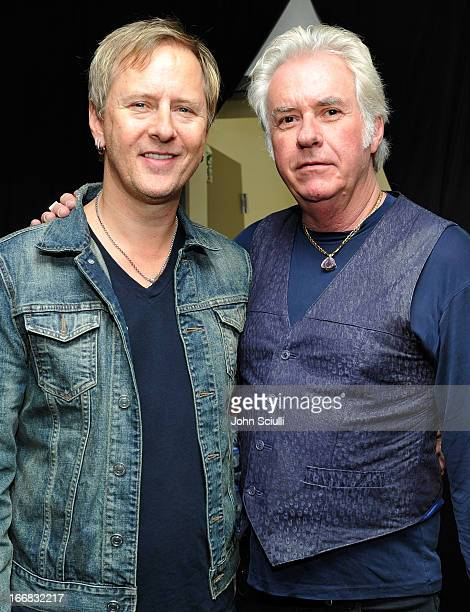 Musicians Jerry Cantrell and Howard Leese attend the Gift Lounge at the 28th Rock and Roll Hall of Fame Induction Ceremony presented by I Can't...