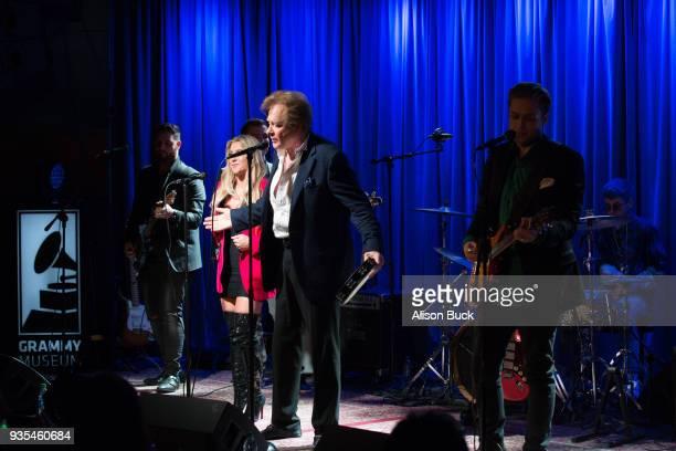 Musicians Jesse Money, Eddie Money, Dez Money and Julian Money perform onstage during An Evening With Eddie Money at The GRAMMY Museum on March 20,...