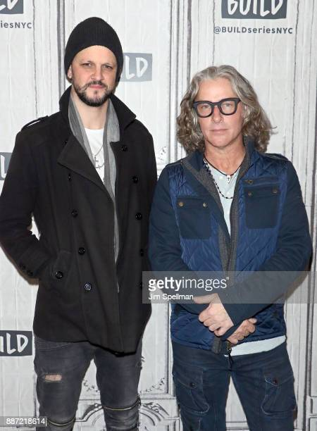 Musicians Jesse Triplett and Ed Roland from the band Collective Soul attend Build at Build Studio on December 6 2017 in New York City