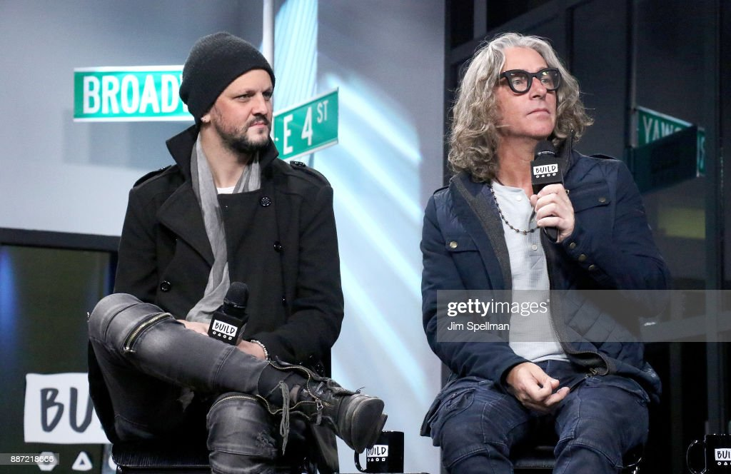 Musicians Jesse Triplett and Ed Roland from the band Collective Soul attend Build at Build Studio on December 6, 2017 in New York City.