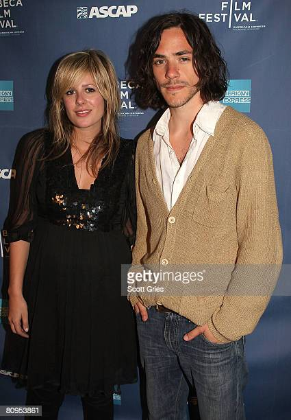Musicians Jessie Baylin and Jack Savoretti pose at the Tribeca ASCAP Music Lounge held at the Canal Room during the 2008 Tribeca Film Festival on May...