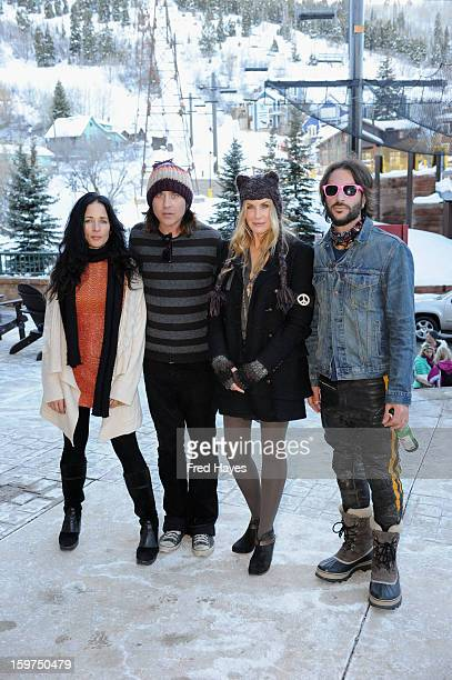 Musicians Jessy Greene Jonny Kaplan Daryl Hannah and Rami Jaffee attend Day 2 of ASCAP Music Cafe at Sundance ASCAP Music Cafe during the 2013...
