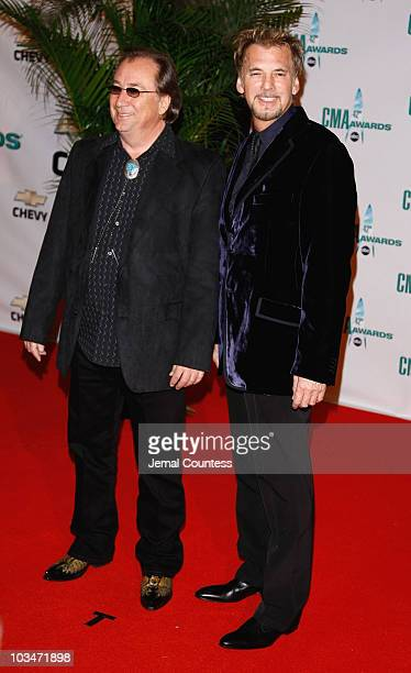 Musicians Jim Messina and Kenny Loggins attend the 42nd Annual CMA Awards at the Sommet Center on November 12 2008 in Nashville Tennessee