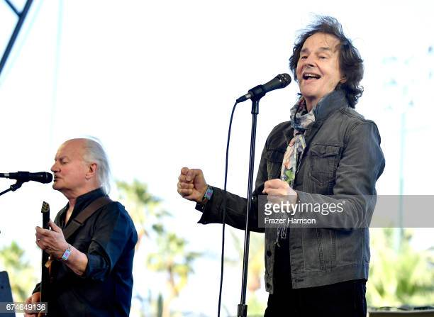 Musicians Jim Rodford and Colin Blunstone of The Zombies perform on the Palomino stage during day 1 of 2017 Stagecoach California's Country Music...