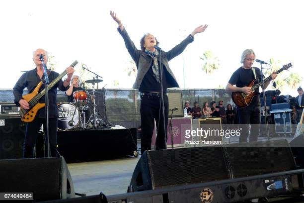 Musicians Jim Rodford Steve Rodford Colin Blunstone and Tom Toomey of The Zombies perform on the Palomino stage during day 1 of 2017 Stagecoach...