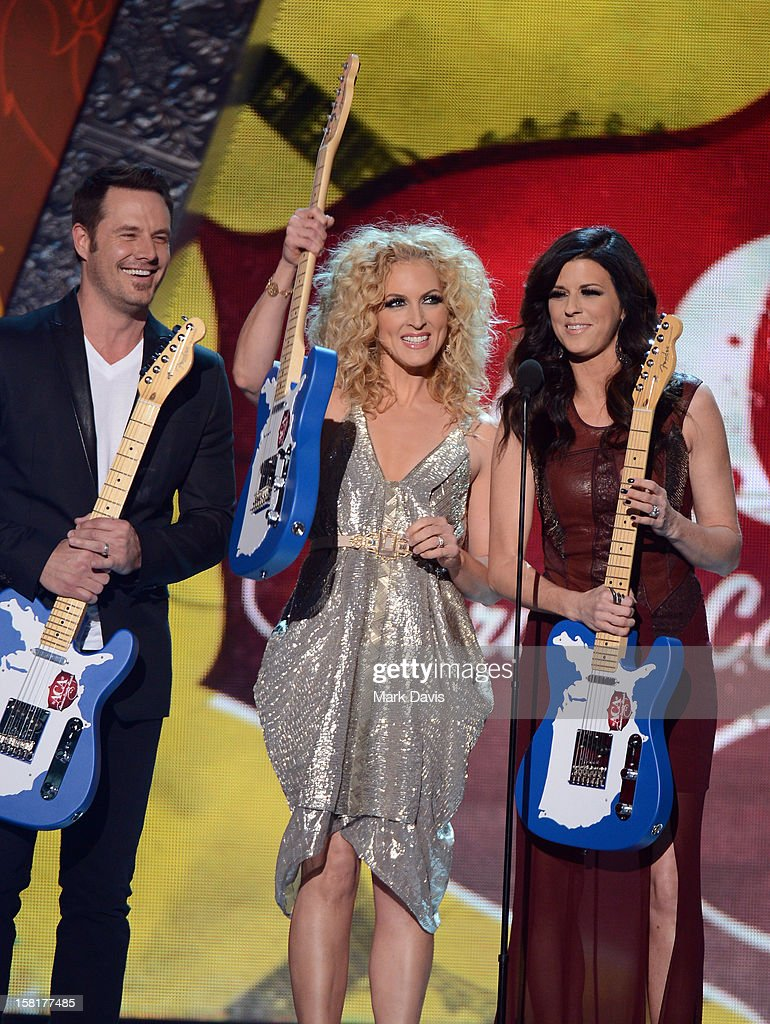 Musicians Jimi Westbrook, Kimberly Roads Schlapman and Karen Fairchild of Little Big Town accept the award for Music Video of the Year: Group onstage during the 2012 American Country Awards at the Mandalay Bay Events Center on December 10, 2012 in Las Vegas, Nevada.