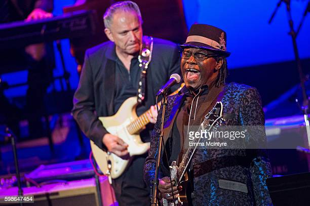 Musicians Jimmie Vaughan and Joe Luis Walker perform onstage at Icon The Life And Legacy Of BB King a live tribute concert presented by the GRAMMY...