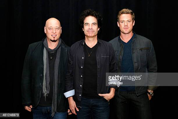 Musicians Jimmy Stafford Pat Monahan and Scott Underwood of the band Train attend Collaborating For A Cure 16th annual benefit dinner and auction at...