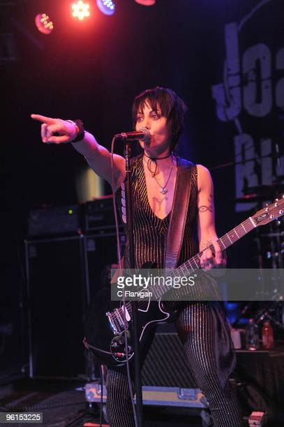 Musicians Joan Jett and the Blackhearts perform during the 2010 Sundance Film Festival at Harry O's nightclub on January 23 2010 in Park City Utah