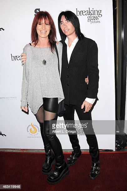 Musicians Jody Hamiltonand Lonny Paul arrive for the Los Angeles Premiere of White Rabbit held at Laemmle Music Hall on February 13 2015 in Beverly...