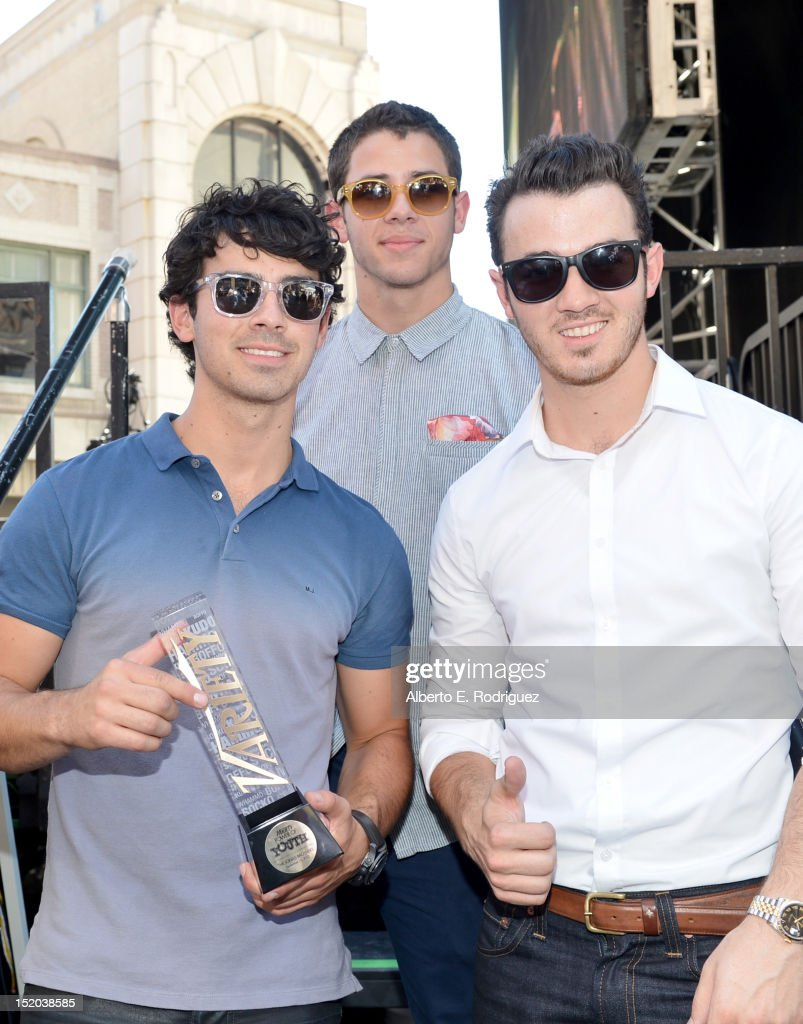 Musicians Joe Jonas, Nick Jonas, and Kevin Jonas attend Variety's Power of Youth presented by Cartoon Network held at Paramount Studios on September 15, 2012 in Hollywood, California.