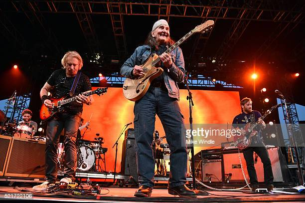 Musicians Joe Walsh and Greg Schwartz perform with Dan Auerbach of The Arcs during day 2 of the 2016 Coachella Valley Music Arts Festival Weekend 1...