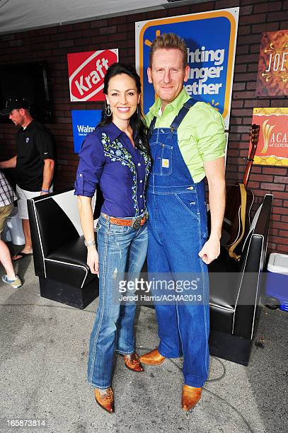 Musicians Joey Martin Feek and Rory Lee Feek attend The ACM Experience during the 48th Annual Academy of Country Music Awards at the Orleans Arena on...