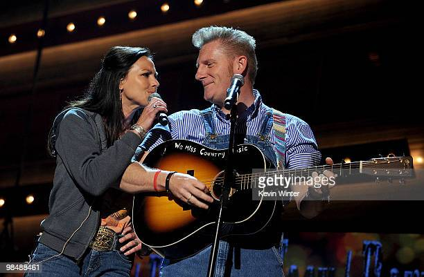 Musicians Joey Martin Feek and Rory Lee Feek perform onstage during the 45th annual Academy of Country Music Awards rehearsals held at the MGM Grand...