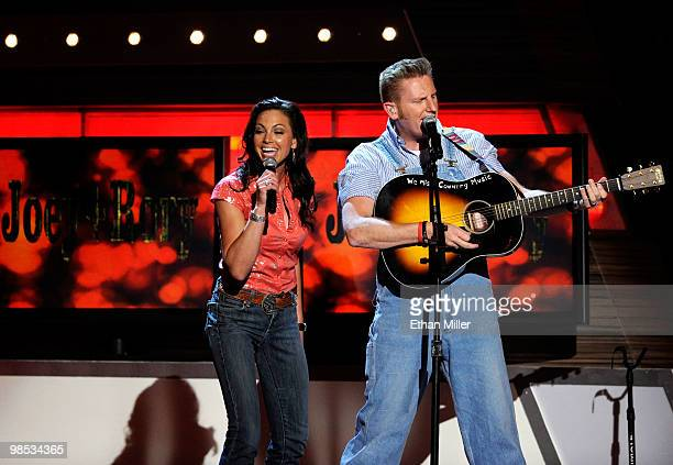Musicians Joey Martin Feek and Rory Lee Feek perform onstage during the 45th Annual Academy of Country Music Awards at the MGM Grand Garden Arena on...