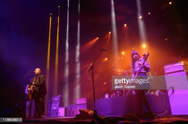 Musicians Joey Santiago Black Francis David Lovering and Paz Lenchantin of Pixies perform at Sprint Center on March 26 2019 in Kansas City Missouri
