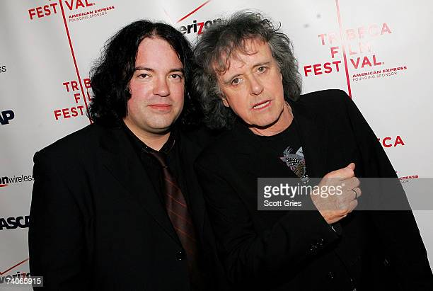 Musicians John Auer and Donovan pose at the ASCAP Tribeca Music Lounge held at the Canal Room during the 2007 Tribeca Film Festival on May 3 2007 in...