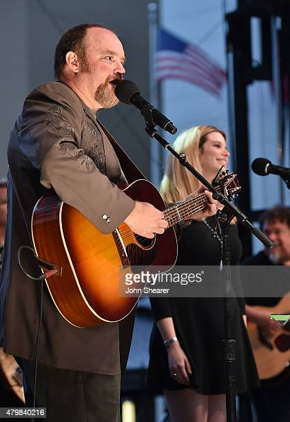 Musicians John Carter Cash left and Ana Cristina perform during the Dylan Cash And The Nashville Cats A New Music City album release concert at...