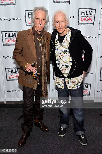 Musicians John Densmore and Robby Krieger attend the Film Independent at LACMA Presents An Evening With The Doors event at Bing Theatre At LACMA on...