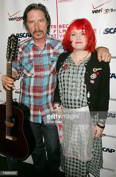 Musicians John Doe and Exene Cervenka of the band 'X' pose at the ASCAP Tribeca Music Lounge held at the Canal Room during the 2007 Tribeca Film...