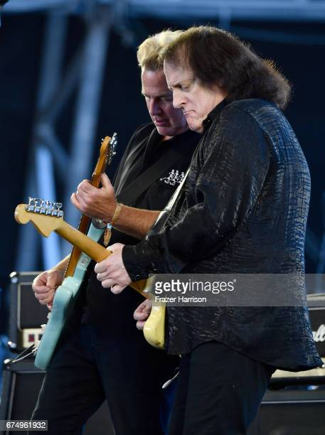 Musicians John Golden and Tommy James of Tommy James and the Shondells perform on the Palomino Stage during day 2 of 2017 Stagecoach California's...