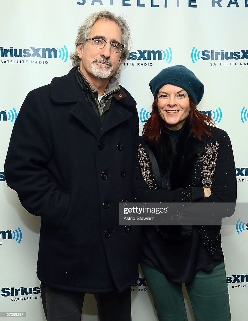 Musicians John Leventhal and Rosanne Cash visit the SiriusXM Studios on December 16, 2013 in New York City.