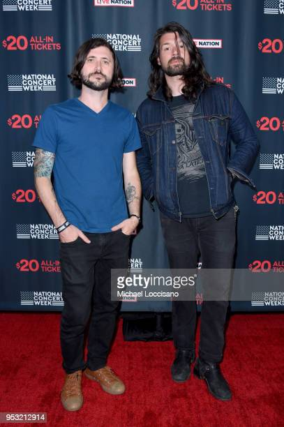 Musicians John Nolan and Adam Lazzara of Taking Back Sunday attend Live Nation's celebration of the 4th annual National Concert Week at Live Nation...
