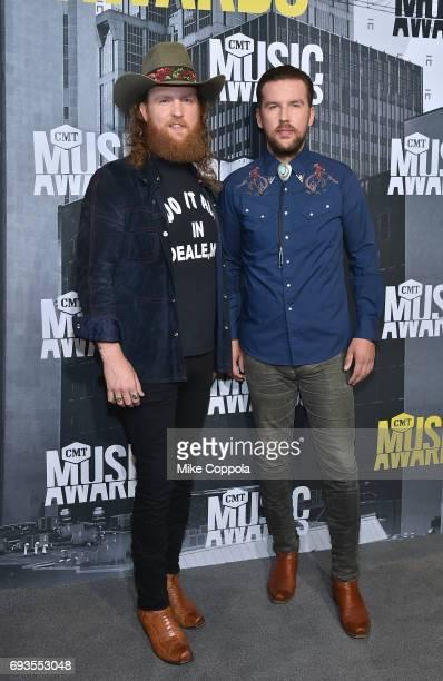 Musicians John Osborne and TJ Osborne of Brothers Osborne attend the 2017 CMT Music Awards at the Music City Center on June 7 2017 in Nashville...