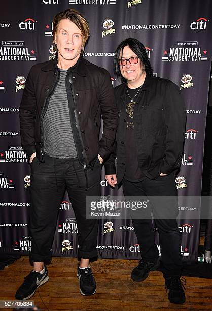 Musicians John Rzeznik and Robby Takac attend the 2nd Annual National Concert Day presented by Live Nation at Irving Plaza on May 3 2016 in New York...