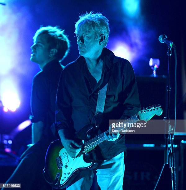 Musicians John Sterry and Andy Gill of the band Gang of Four perform onstage during Beach Goth Festival at The Observatory on October 22 2016 in...