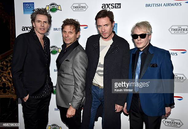 Musicians John Taylor Roger Taylor Simon Le Bon and Nick Rhodes of Duran Duran attend the David Lynch Foundation's DLF Live presents 'The Music Of...