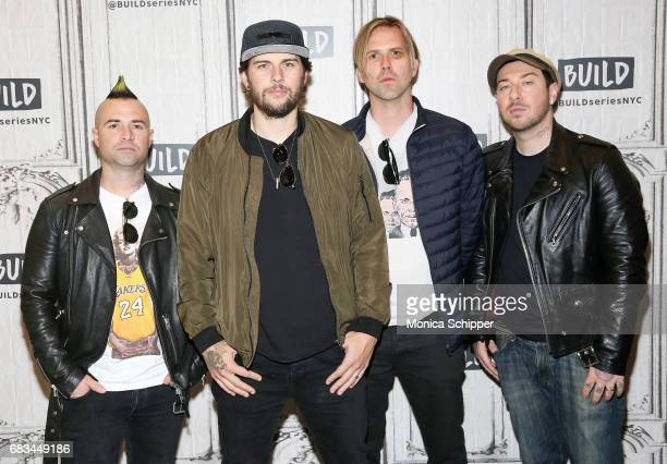 Musicians Johnny Christ M Shadows Brooks Wackerman and Zacky Vengeance of band Avenged Sevenfold attend Build Presents Avenged Sevenfold Discussing...
