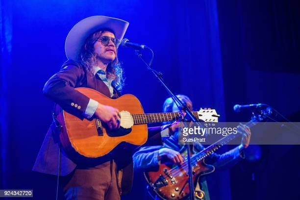 Musicians Jonathan Childers and Taylor Zachry of Blank Rangeperform at The Neptune Theatre on February 25 2018 in Seattle Washington