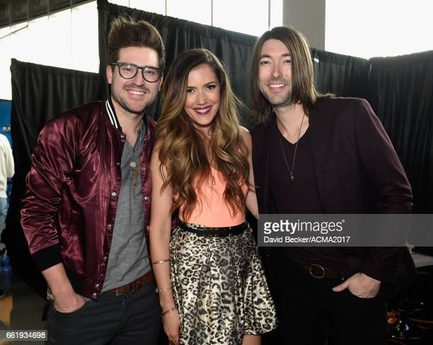 Musicians Jonathan Lawson Cassandra Lawson and Tyler Oban of The Railers attend the 52nd Academy Of Country Music Awards Cumulus/Westwood One Radio...