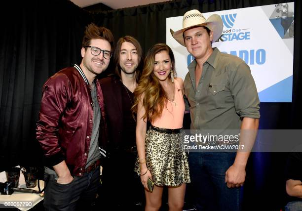 Musicians Jonathan Lawson Tyler Oban and Cassandra Lawson of The Railers and singersongwriter Jon Pardi attend the 52nd Academy Of Country Music...