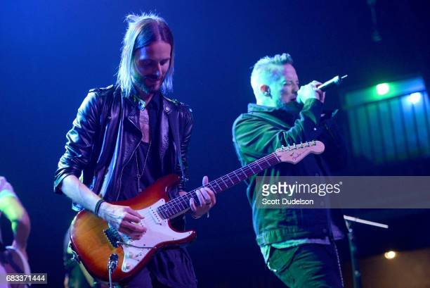 Musicians Jonathan Radtke and Richard Patrick of Filter performs onstage during the Strange 80's benefit at The Fonda Theatre on May 14 2017 in Los...
