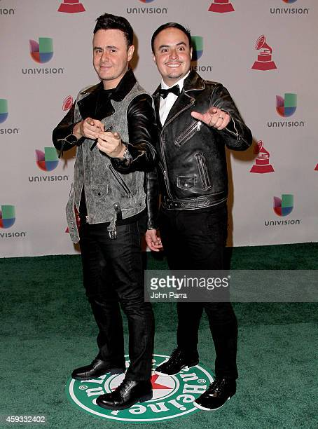 Musicians Jose Luis Ortega and Raul Ortega of Rio Roma attend the 15th annual Latin GRAMMY Awards at the MGM Grand Garden Arena on November 20 2014...