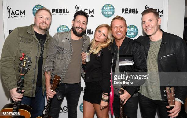 Musicians Josh Osborne Matthew Ramsey Miranda Lambert Shane McAnally and Trevor Rosen at the ACM Party For A Cause Songwriter Showcase on March 31...