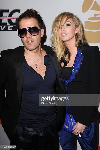 Musicians Jules De Martino and Katie White of The Ting Tings arrive at the 52nd Annual GRAMMY Awards Salute To Icons Honoring Doug Morris held at The...