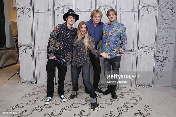 Musicians Julian Money, Jesse Money, Eddie Money and Dez Money attend AOL Build at AOL Studios on November 30, 2015 in New York City.