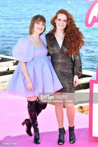 Musicians Julie Berthollet and Camille Berthollet attend the 4th Canneseries Festival - Day Six on October 13, 2021 in Cannes, France.