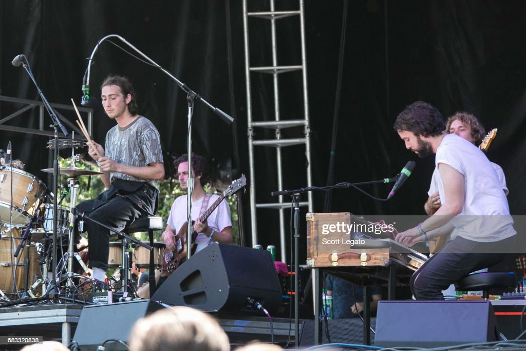 Musicians Julien Ehrlich (L) and Josiah Marshall of the band Whitney perform during day 3 of Shaky Knees Festival at Centennial Olympic Park on May 14, 2017 in Atlanta, Georgia.