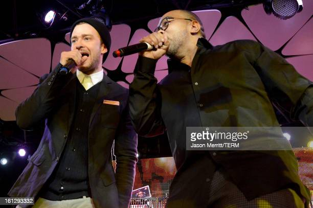 Musicians Justin Timberlake and Timbaland join mPowering Action a global mobile youth movement at Grammy Week launch featuring performances by...