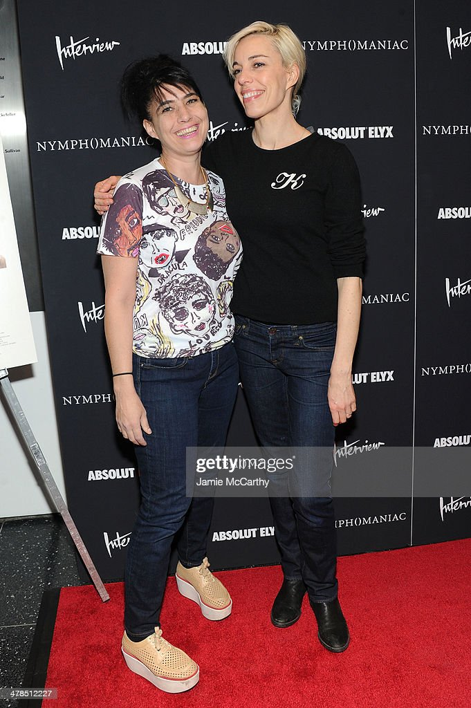 Musicians Kathleen Hanna and Kathi Wilcox attend the 'Nymphomaniac: Volume I' New York screening at Museum of Modern Art on March 13, 2014 in New York City.