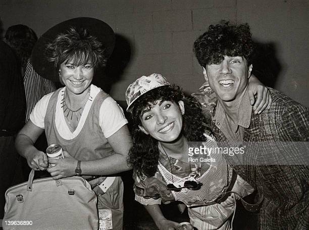 """Musicians Kathy Valentine, Jane Weidlin and Russel Mael attend the premiere of """"Human Highway"""" on June 9, 1983 at Mann Bruin Theater in Westwood,..."""