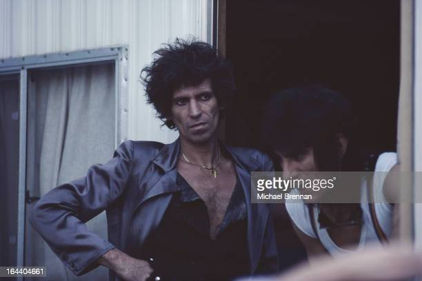 Musicians Keith Richards and Ron Wood of The Rolling Stones in New York City September 1981 They are in New York to play the Shea Stadium