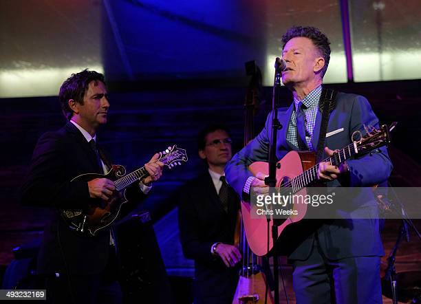 Musicians Keith Sewell and Lyle Lovett perform at the Annenberg Space for Photography Opening Celebration for Country Portraits of an American Sound...