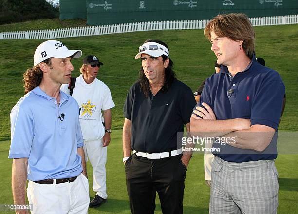 **EXCLUSIVE** Musicians Kenny G Alice Cooper and Actor Kyle MacLachlan during the 10th Annual Michael Douglas Friends Celebrity Golf Tournament held...