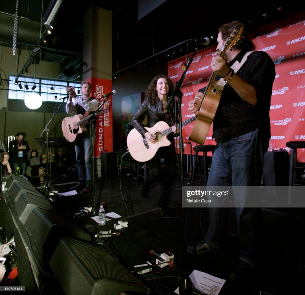 Musicians Kenny Loggins, Georgia Middleman and Gary Burr perform on ASCAP Music Cafe Day 1 at Sundance ASCAP Music Cafe during the 2013 Sundance Film Festival on January 18, 2013 in Park City, Utah.